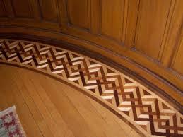 Hardwood Floor Borders Ideas Geometric Border At Edge Of Round Room Hardwood Floors Wood