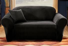 one piece stretch sofa slipcover stretch pique one piece sofa slipcover surefit