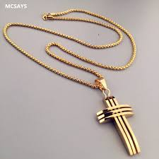 christian necklace trendy hip hop necklace cross pendant bling boxing chain christian
