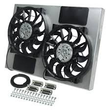 electric radiator fans and shrouds derale performance 16826 dual electric radiator fan with aluminum