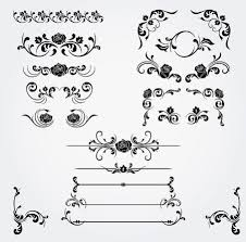 vintage floral ornaments vector free web graphic design