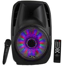 portable speaker with lights befree sound 15 inch bluetooth tailgate speaker with sound volume