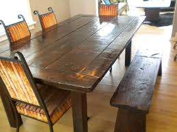 Rustic Bench Dining Table Rustic Dining Room Tables With Benches