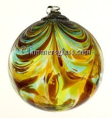 blown glass feather balls