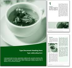 royalty free herbal tea microsoft word template in green