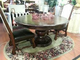 distressed walnut finish 60 round dining table storeroom on main
