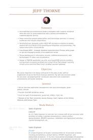 Job Objective On Resume by Sales Engineer Resume Samples Visualcv Resume Samples Database