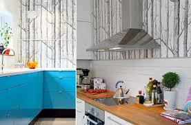 papier peint cuisine lavable papier peint cuisine 20 exemples déco pour l adopter