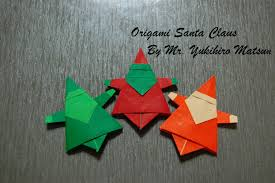 origami christmas santa claus how to fold an origami santa claus