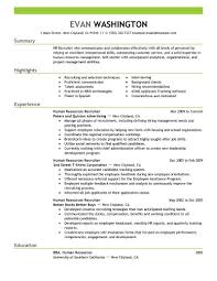 Sample Resume Objectives For Hr Positions by Hr Recruiter Resume Objective Free Resume Example And Writing