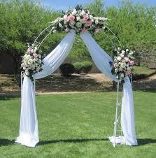 Wedding Arches In Church Arch Wedding White Metal U2013 A U0026h Rents Inc