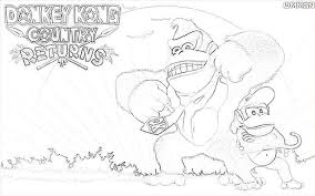 donkey kong coloring pages printable download coloring pages