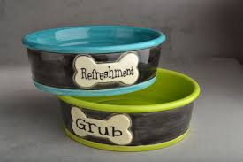 personalized bowl dog bowl set made to order personalized smooth dog bowls by