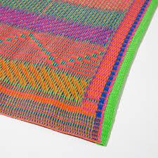 multicolored plastic rug indoor and outdoor zara home united