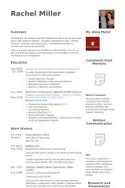 Sports Management Resume Samples by Food Service Resume Samples Visualcv Resume Samples Database