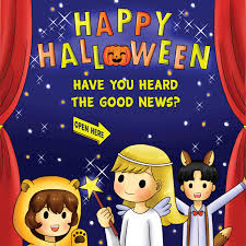 halloween gospel tracts for children imprinted with church name