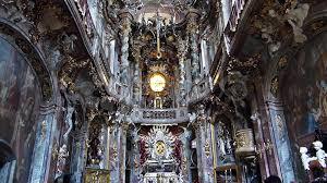 video beautiful baroque architecture asam church in munich