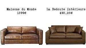 canape cuir maison du monde le même en moins cher un canapé convertible lofts and salons