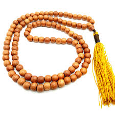 bead necklace wood images Monk blessed narra wood buddhist prayer bead mala yellow tassel jpg