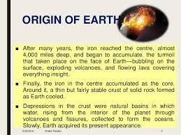 res525 origin of earth and earth atmosphere