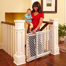 Baby Gate Stairs Banister North States Heavy Duty Stairway Baby Gate 26