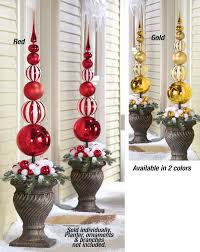 stacked ornament finial topiary stake from