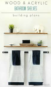 Images Of Bathroom Shelves Pneumatic Addict Wood And Acrylic Bathroom Shelf