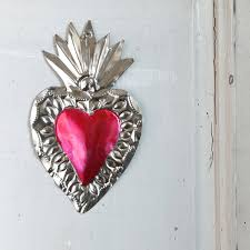 heart decorations mexican heart decorations wall decor pompom twiddle