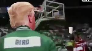Paper Throwing Meme - donald trump throws paper towels in puerto rico larry bird video
