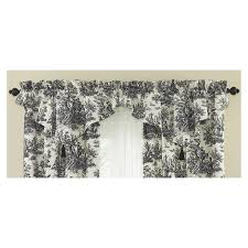 shop waverly home classics 20 in black cotton rod pocket valance