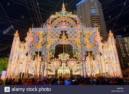 Christmas Lights Festival by Luminarie Light Festival In Kobe Japan Stock Photo Royalty Free
