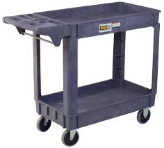 Industrial Kitchen Cart by Wen 2 Shelf Polypropylene Service Cart