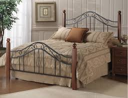 King Size Headboard And Footboard Classic Wood And Wrought Iron King Size Poster Bed Headboard