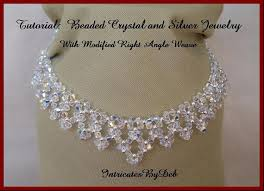 pattern crystal necklace images Tutorial beaded modified right angle weave drop necklace jpg