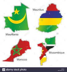 Mauritius Flag Africa Flag Morocco Mauritius Mozambique Mauritania Map Atlas Map