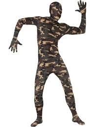 Army Halloween Costumes Mens Camouflage Skin Bodysuit Mens Costume Adults Army Camo