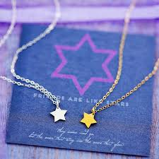 jewelry star necklace images Tiny star necklace on friendship card by j s jewellery jpg