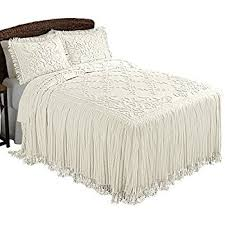 floral lattice chenille lightweight bedspread