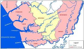 Nigeria State Map by Four Main Rivers Of Nigeria U0027s Western Niger Delta U0026 Their Tributaries