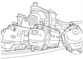 chuggington coloring pages printable train birthday party