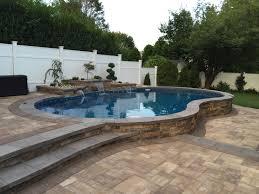 Inground Pool Kits Clearance Love This Pool Deck Semi Inground Pools Pinterest Decking