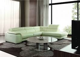 sectional sofa in off white leather w adjustable headrests