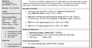 Pg Resume Format One Page Resume Format In Doc