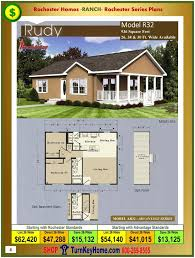 New Home Floor Plans And Prices Rudy Rochester Modular Home Model Ar32 Advantage Series Ranch Plan