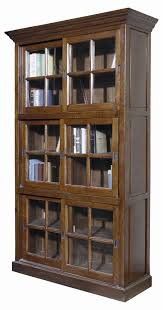 small bookcase with glass doors furniture home brown tall wooden bookcase with sliding glass