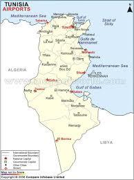 tunisia physical map airports in tunisia tunisia airports map