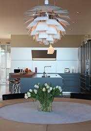 Artichoke Chandelier Artichoke Light Fixture Kitchen Contemporary With Blue Cabinets