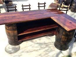 crate and barrel bar table barrel furniture for sale wine barrel bar tables custom wine barrel