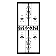Home Depot Front Yard Design by Grisham 36 In X 80 In 409 Series Spanish Lace Steel Black