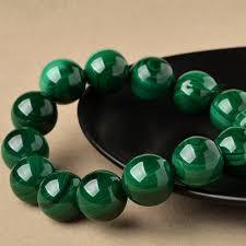 fashionable green malachite bracelet without color